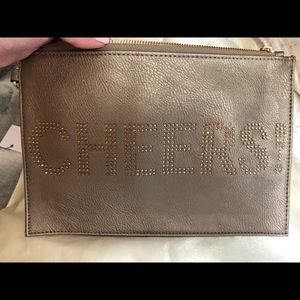 "NWT. Wristlet with Rhinestone ""CHEERS!"""